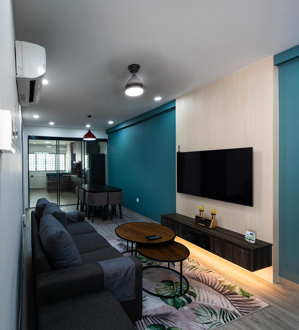 Contemporary, HDB, Living Room, Bukit Batok East Avenue 9, Interior Designer, Livinci Interior
