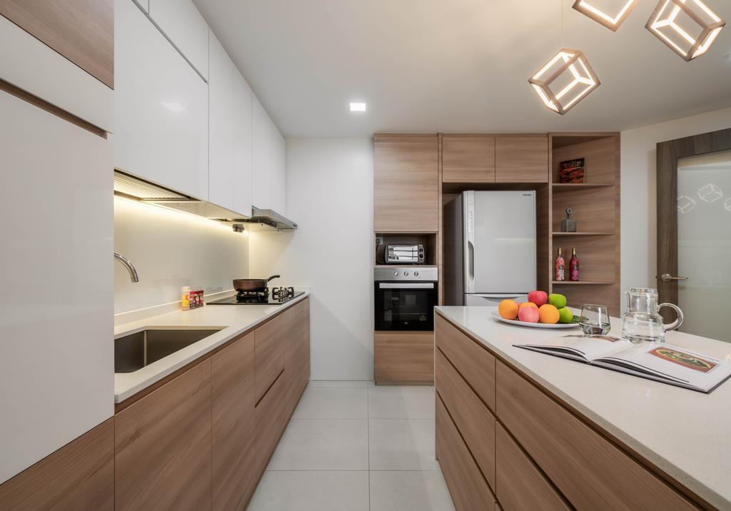 Modern, Condo, Kitchen, Signature Park, Interior Designer, Zenith Arc