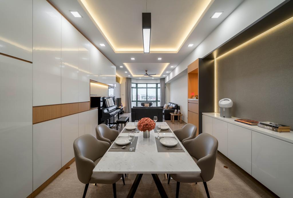 Modern, Condo, Dining Room, Signature Park, Interior Designer, Zenith Arc