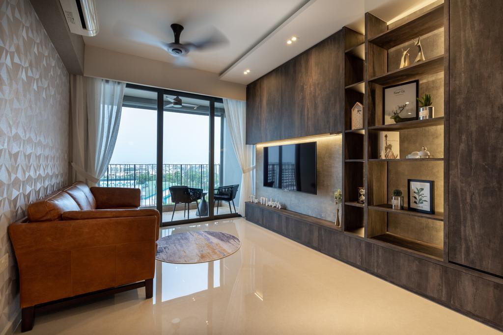 Modern, Condo, Living Room, Hundred Palms Residences, Interior Designer, The Makers Design Studio, Contemporary