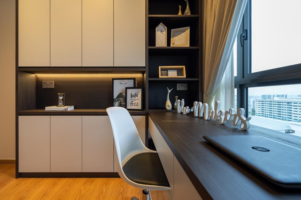 Modern, Condo, Study, Hundred Palms Residences, Interior Designer, The Makers Design Studio, Contemporary