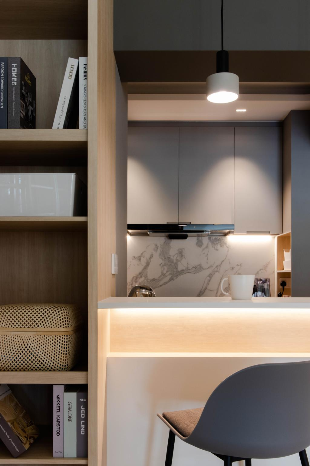 Minimalistic, HDB, Kitchen, Punggol Drive, Interior Designer, ARK-hitecture, Contemporary