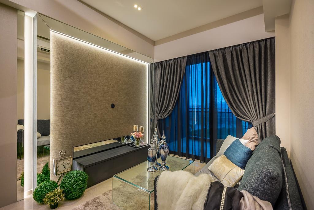 Modern, Condo, Living Room, Parc Riviera, Interior Designer, One Design Werkz