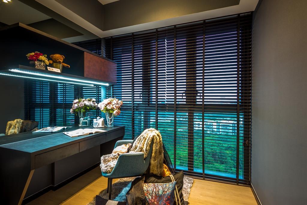 Modern, Condo, Study, Parc Riviera, Interior Designer, One Design Werkz