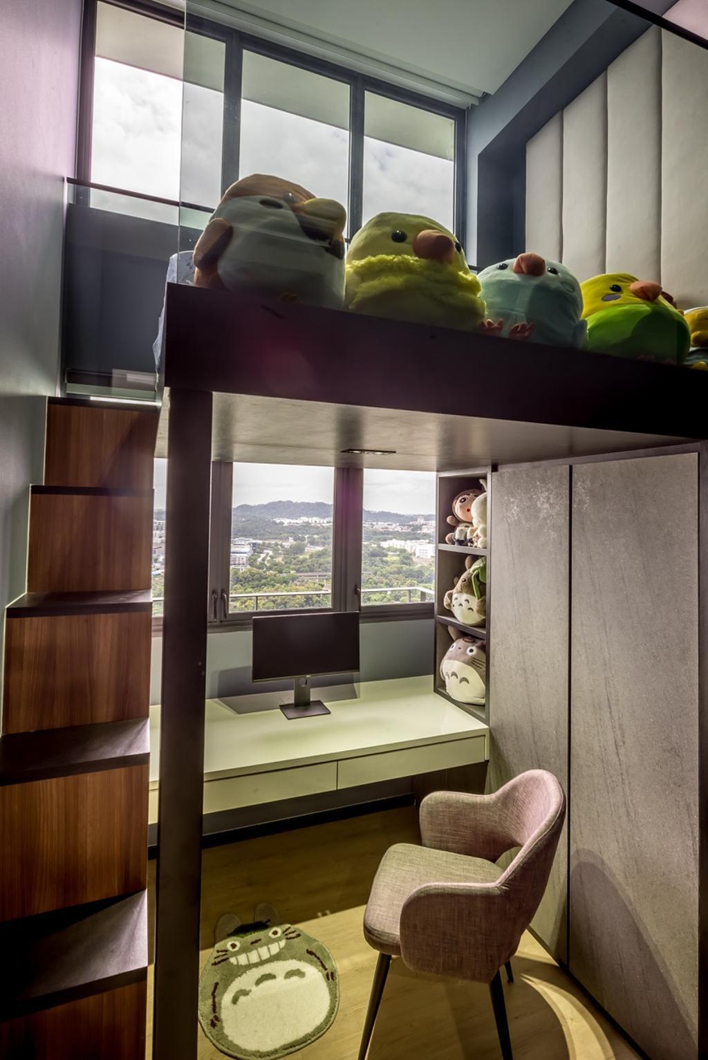 Transitional, Condo, Bedroom, Parc Riviera, Interior Designer, One Design Werkz