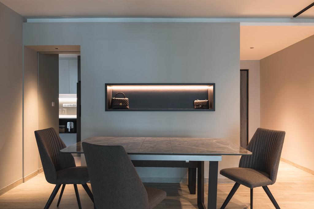 Contemporary, HDB, Dining Room, Edgedale Plains, Interior Designer, The Design Practice