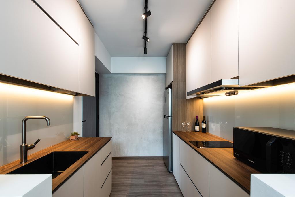 Contemporary, HDB, Kitchen, Punggol Drive (Block 209C), Interior Designer, Dyel Design