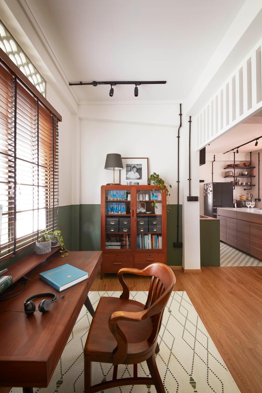 Eclectic, HDB, Study, Joo Chiat, Interior Designer, Free Space Intent, Vintage