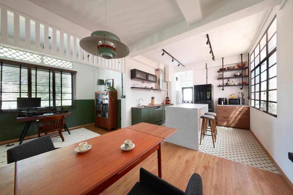 Eclectic, HDB, Dining Room, Joo Chiat, Interior Designer, Free Space Intent, Vintage
