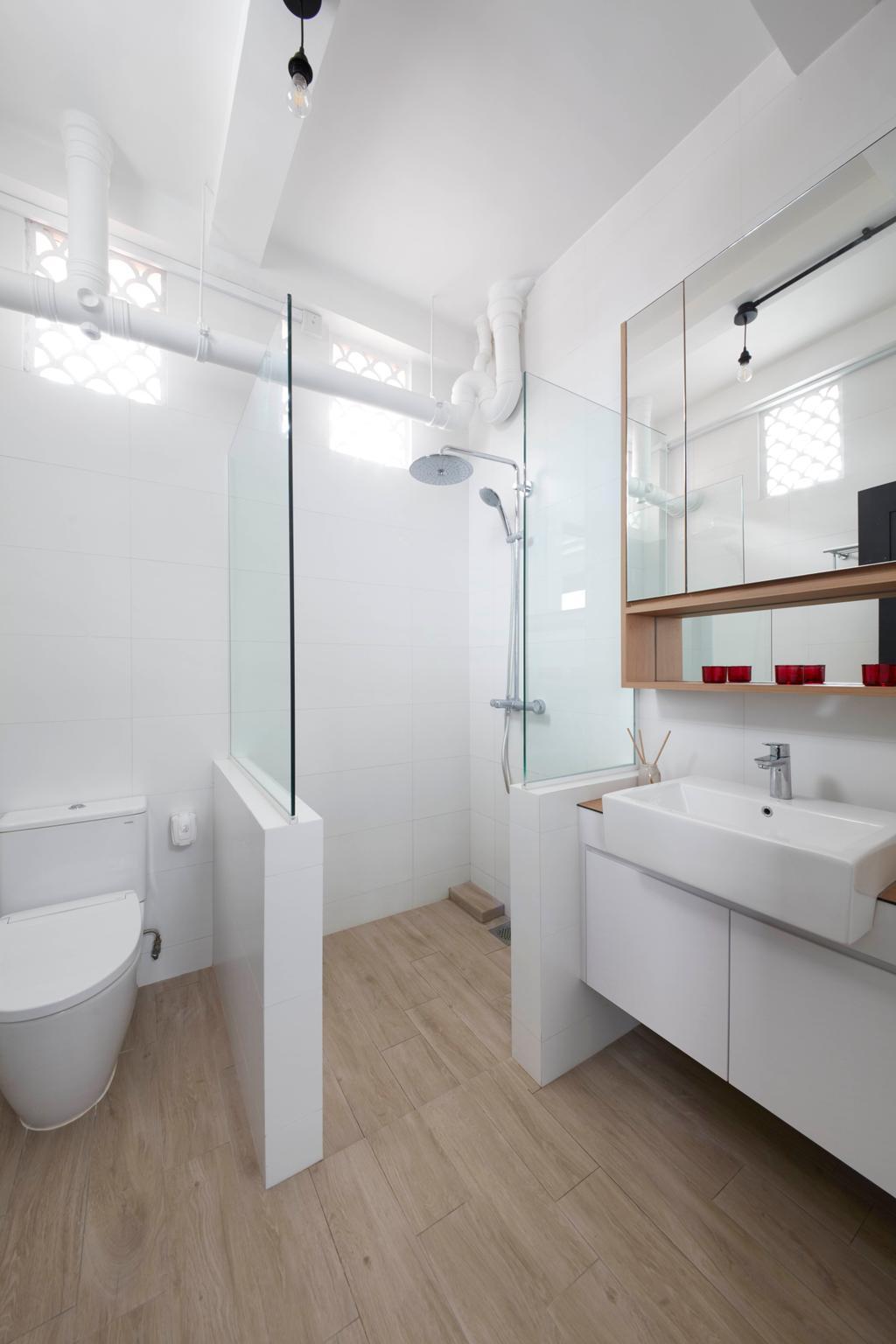 Eclectic, HDB, Bathroom, Joo Chiat, Interior Designer, Free Space Intent, Vintage