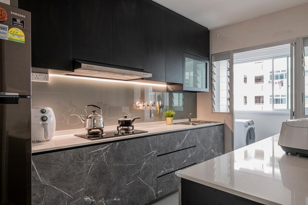 Contemporary, HDB, Kitchen, Canberra Street, Interior Designer, The Two Big Guys