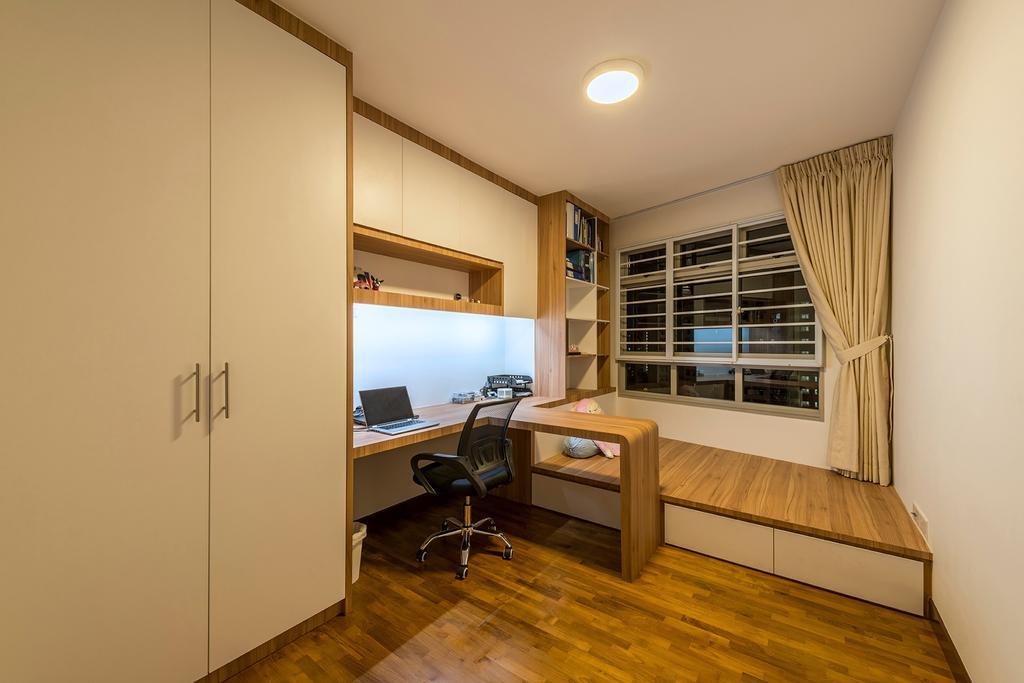 Contemporary, HDB, Bedroom, Sengkang Central, Interior Designer, The Two Big Guys, Modern