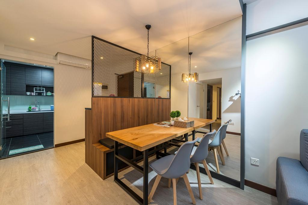 Contemporary, HDB, Dining Room, Sengkang Central, Interior Designer, The Two Big Guys, Modern