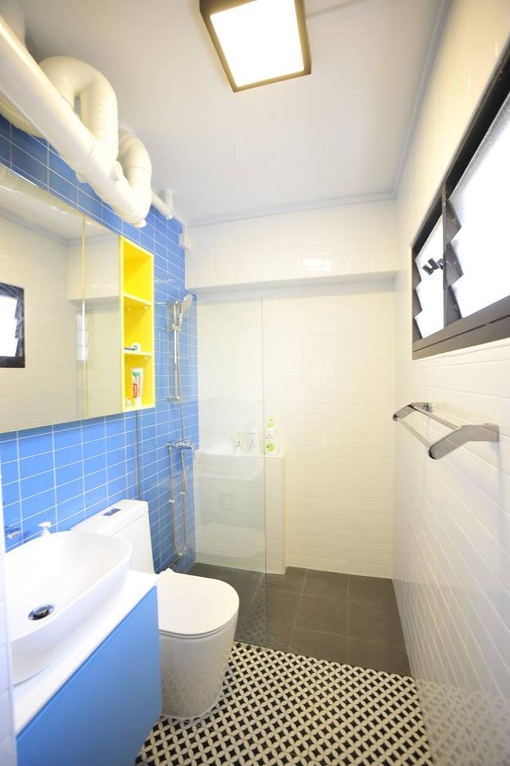 Contemporary, HDB, Bathroom, Jelapang Road, Interior Designer, The Two Big Guys