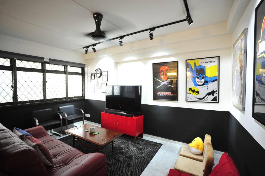 Contemporary, HDB, Living Room, Jelapang Road, Interior Designer, The Two Big Guys