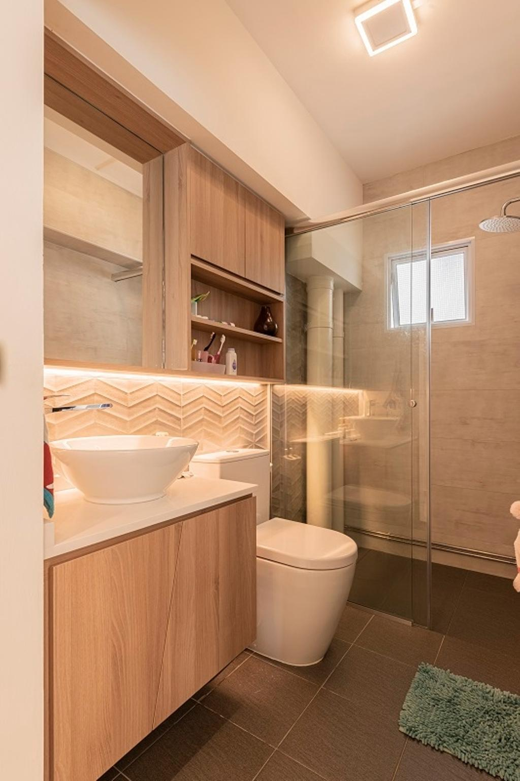 Modern, HDB, Bathroom, Jurong East Street 64, Interior Designer, The Two Big Guys, Contemporary