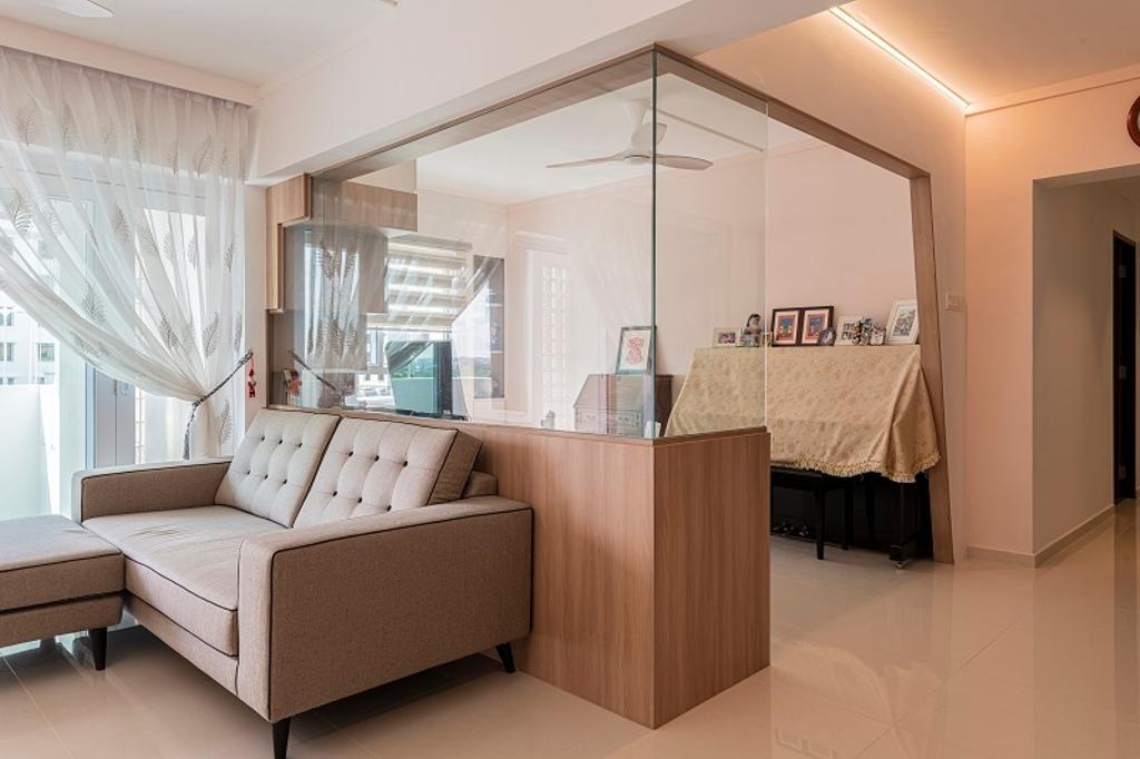Modern, HDB, Living Room, Jurong East Street 64, Interior Designer, The Two Big Guys, Contemporary