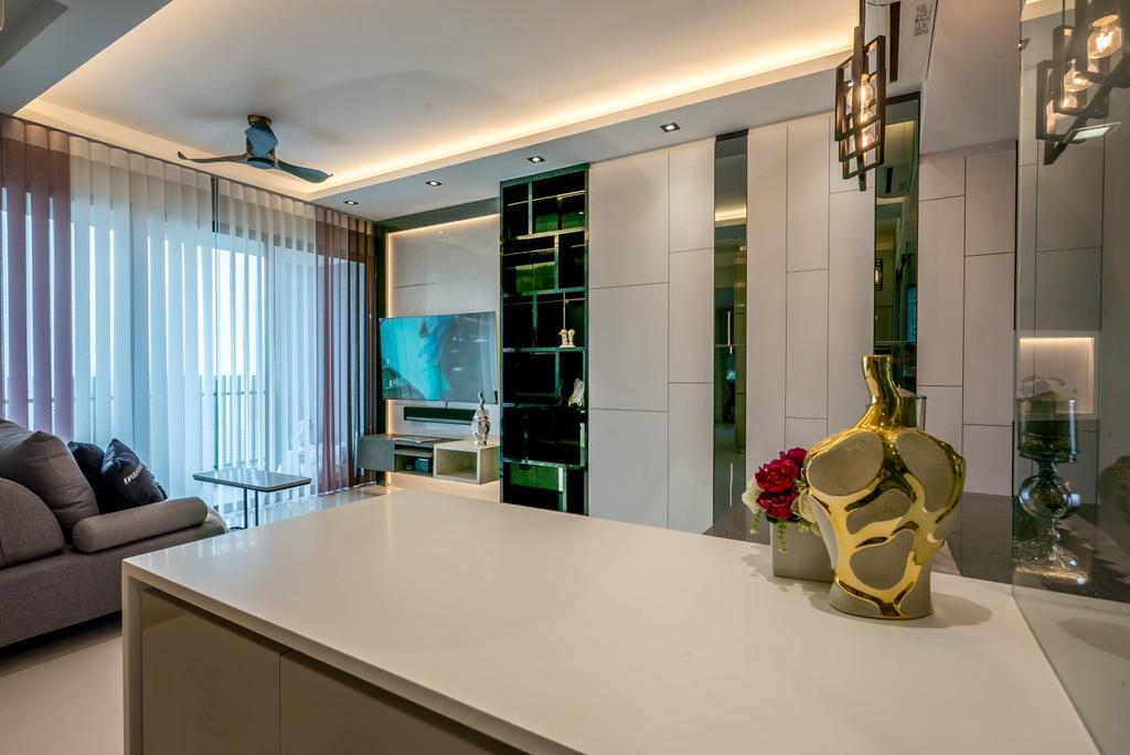 Modern, Condo, Living Room, J Gateway, Interior Designer, One Design Werkz