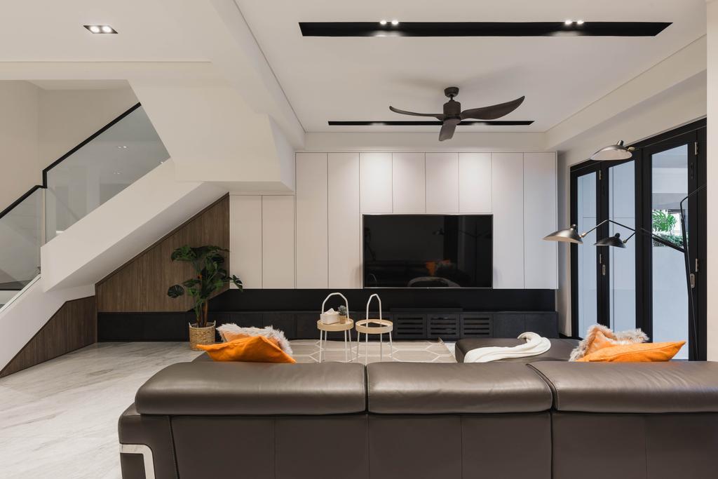 Contemporary, Landed, Living Room, Lorong H Telok Kurau, Interior Designer, Posh Home