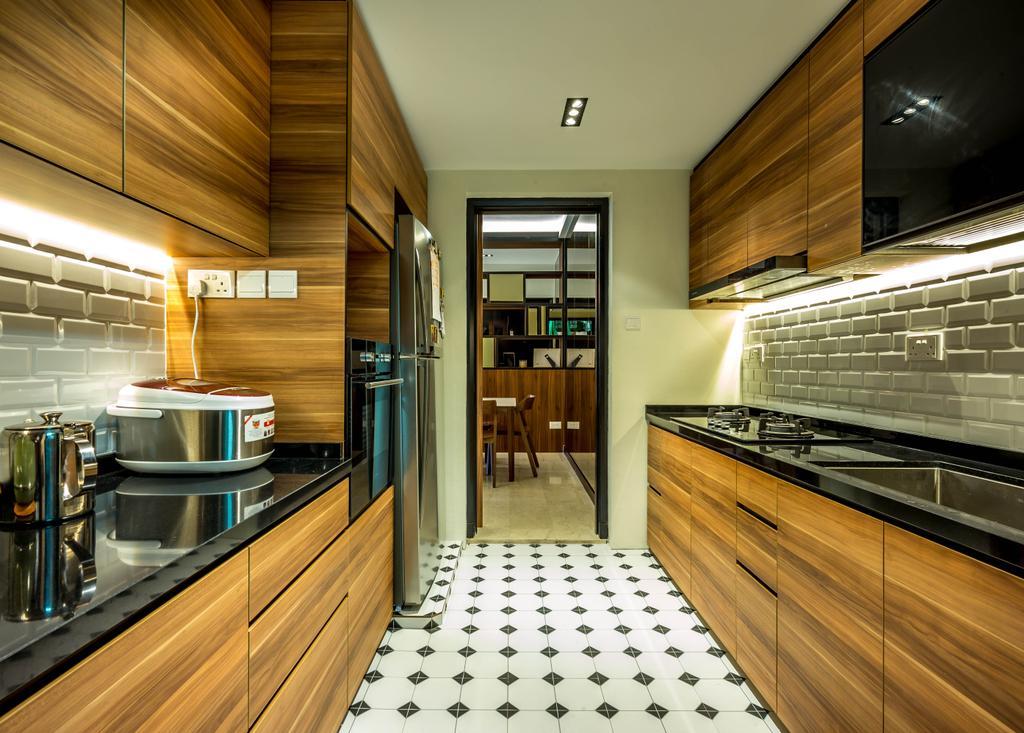 Contemporary, Condo, Kitchen, Casafina, Interior Designer, One Design Werkz