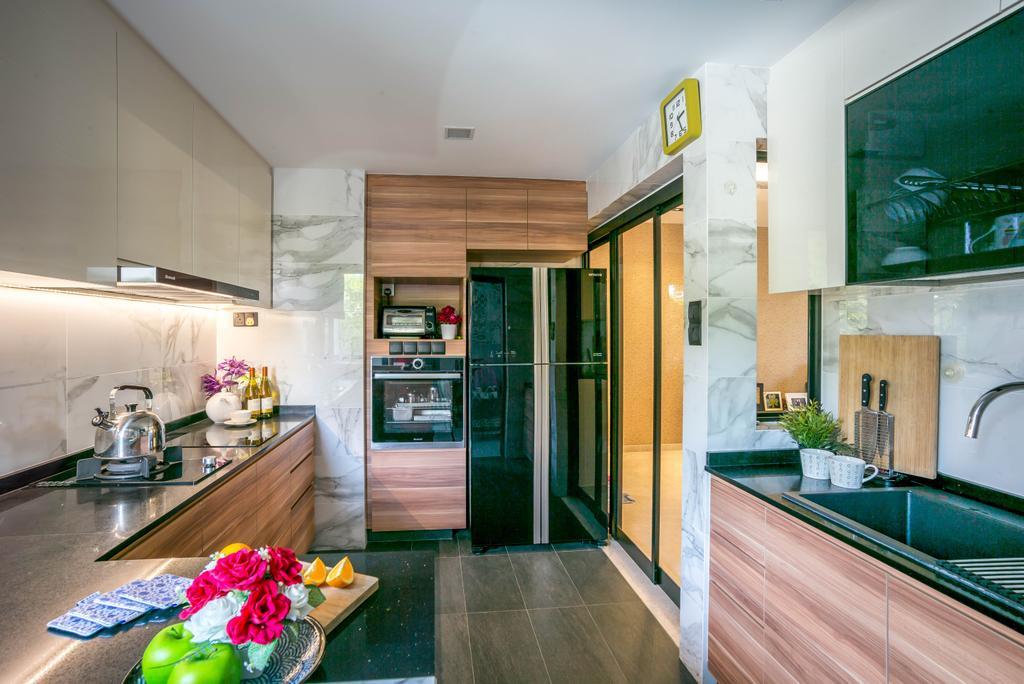 Modern, Condo, Kitchen, Grandeur 8, Interior Designer, One Design Werkz