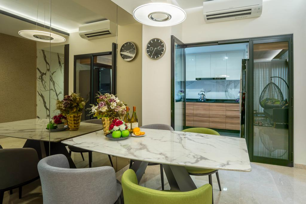 Modern, Condo, Dining Room, Grandeur 8, Interior Designer, One Design Werkz