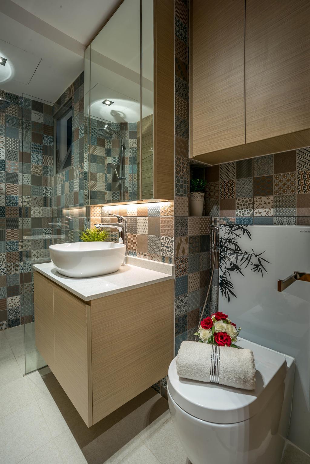 Modern, Condo, Bathroom, Grandeur 8, Interior Designer, One Design Werkz