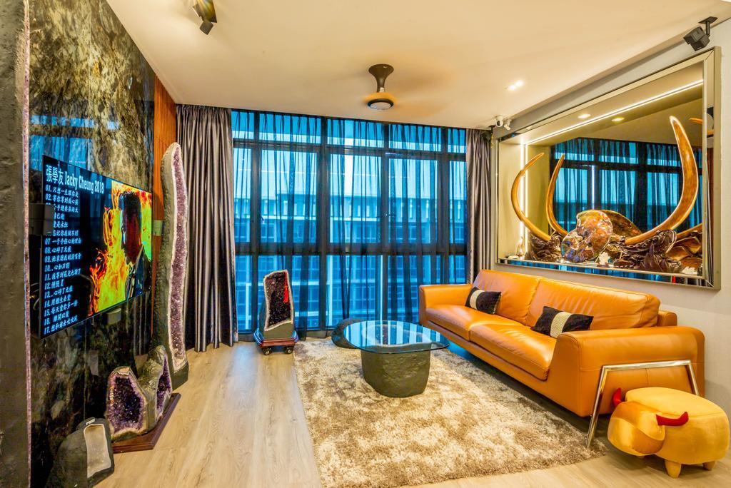 Transitional, Condo, Living Room, Symphony Suites, Interior Designer, One Design Werkz