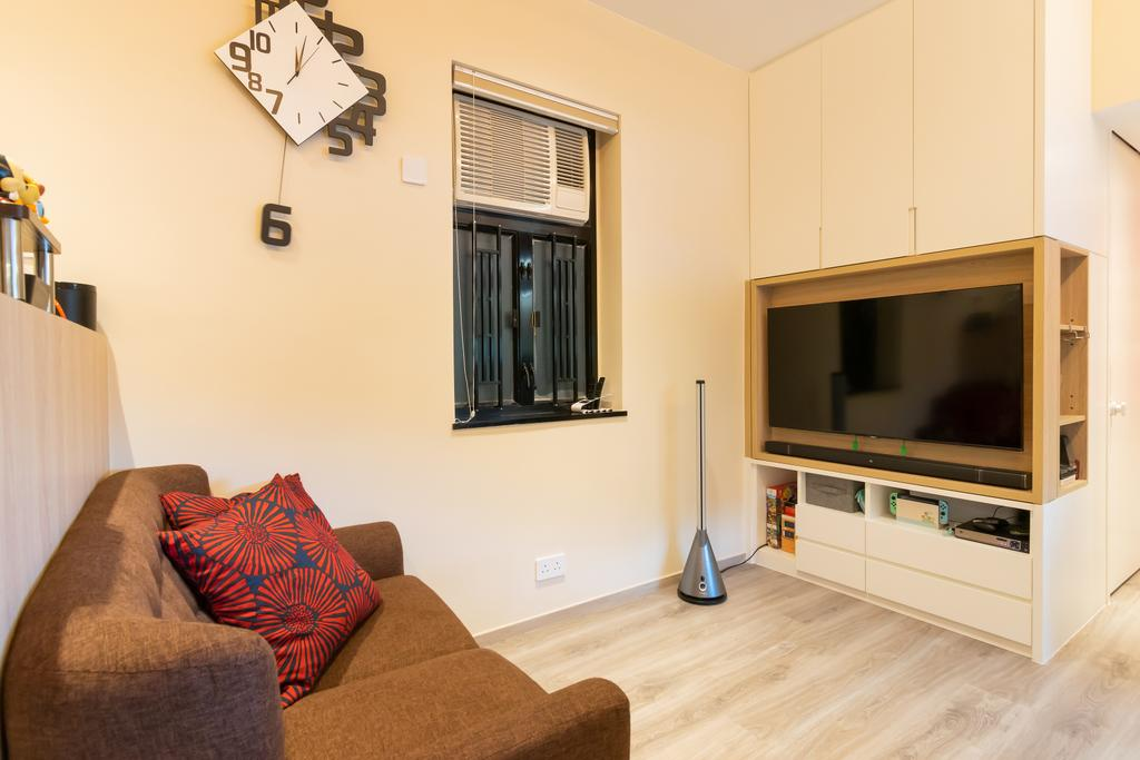 簡約, 私家樓, 客廳, 美景花園, 室內設計師, 現時設計
