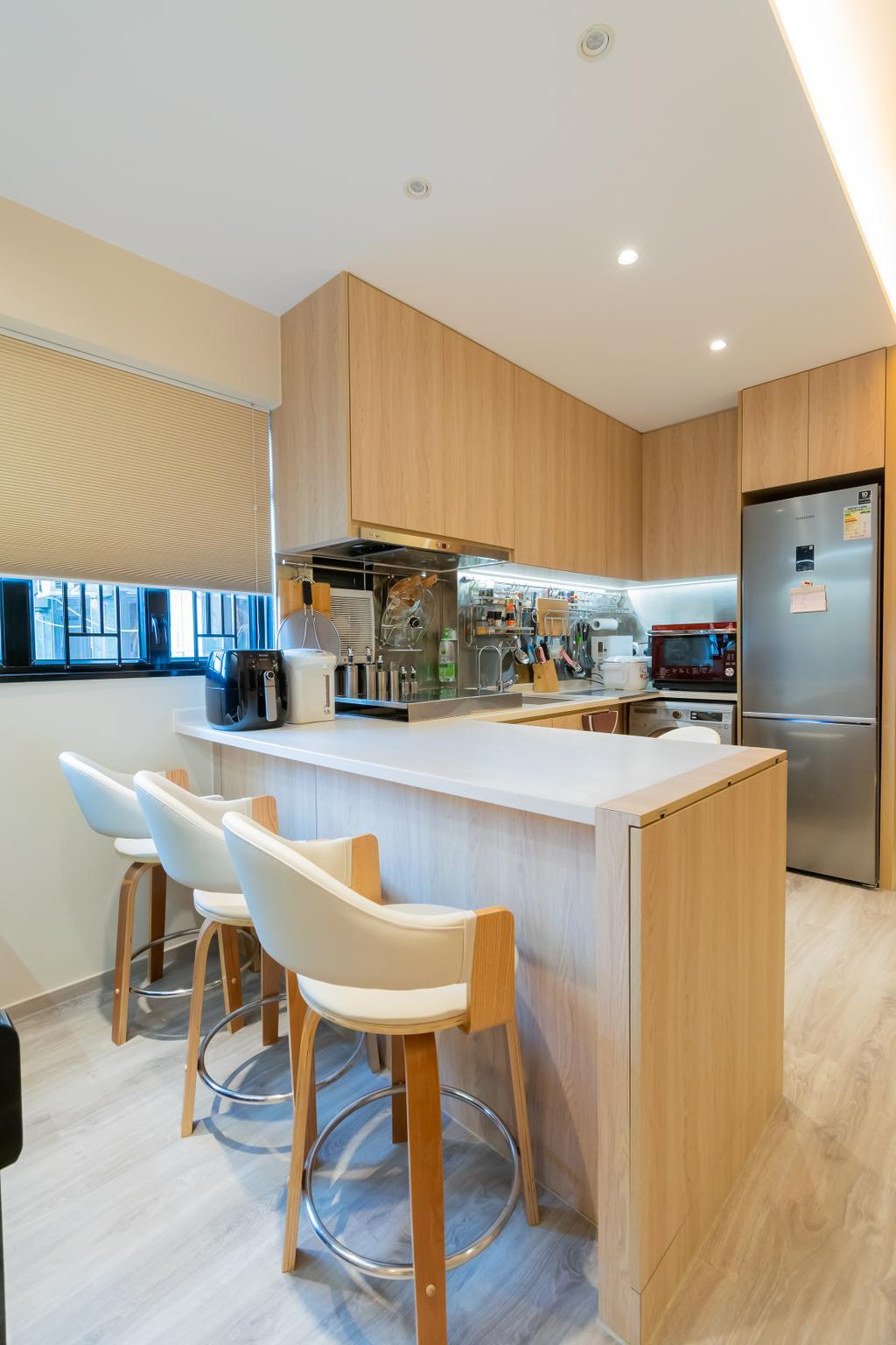 簡約, 私家樓, 廚房, 美景花園, 室內設計師, 現時設計