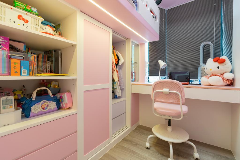 簡約, 私家樓, 睡房, 美景花園, 室內設計師, 現時設計