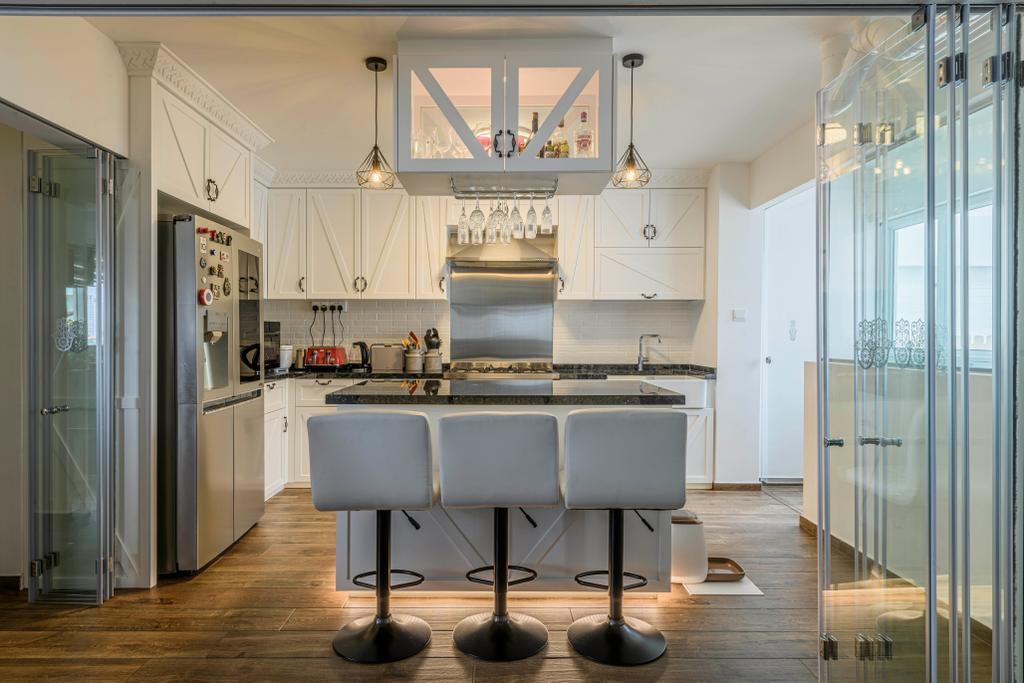 Eclectic, HDB, Kitchen, Bishan Street 13, Interior Designer, Image Creative Design, Contemporary