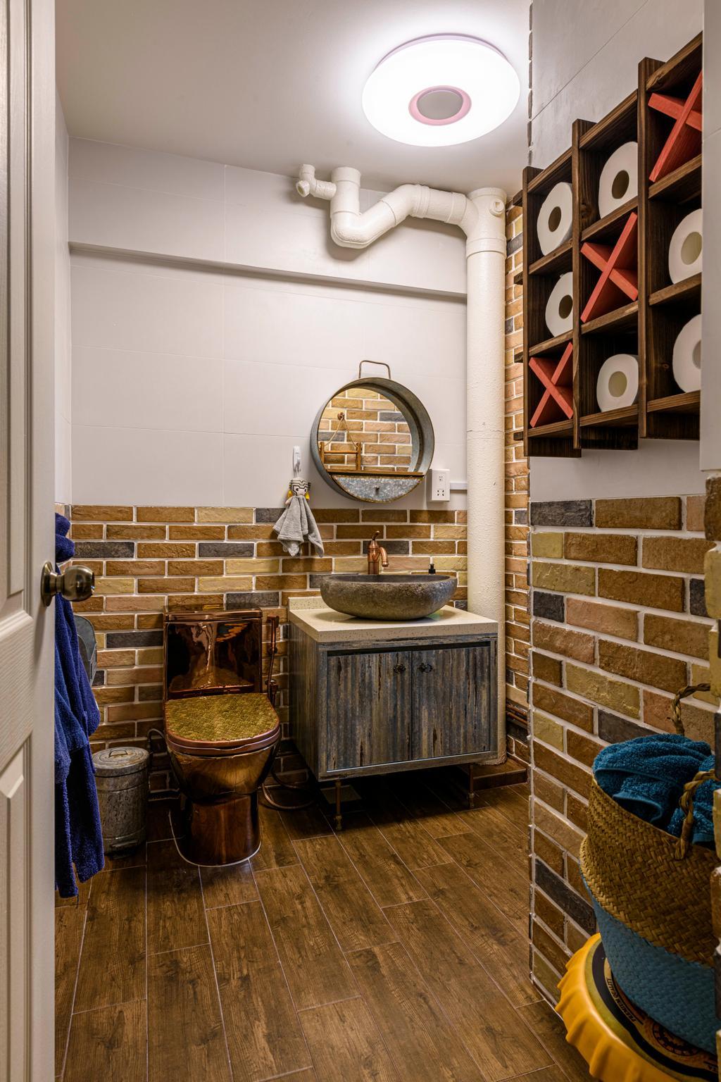 Eclectic, HDB, Bathroom, Bishan Street 13, Interior Designer, Image Creative Design, Contemporary