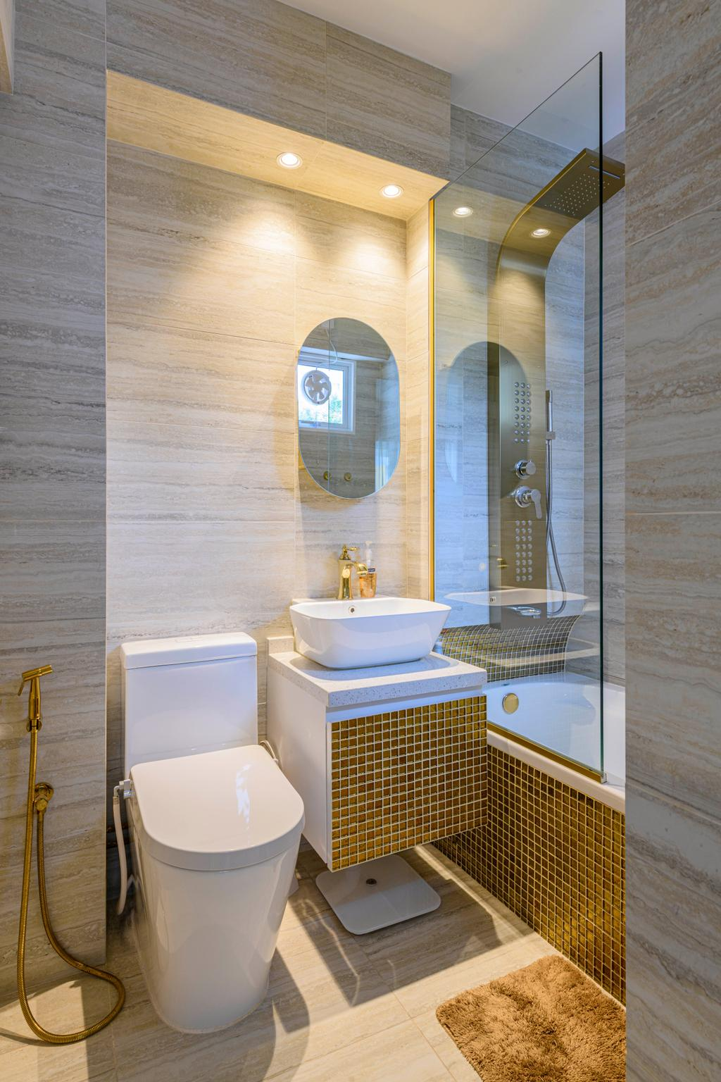Eclectic, HDB, Bathroom, Bishan Street 13, Interior Designer, Image Creative Design, Contemporary
