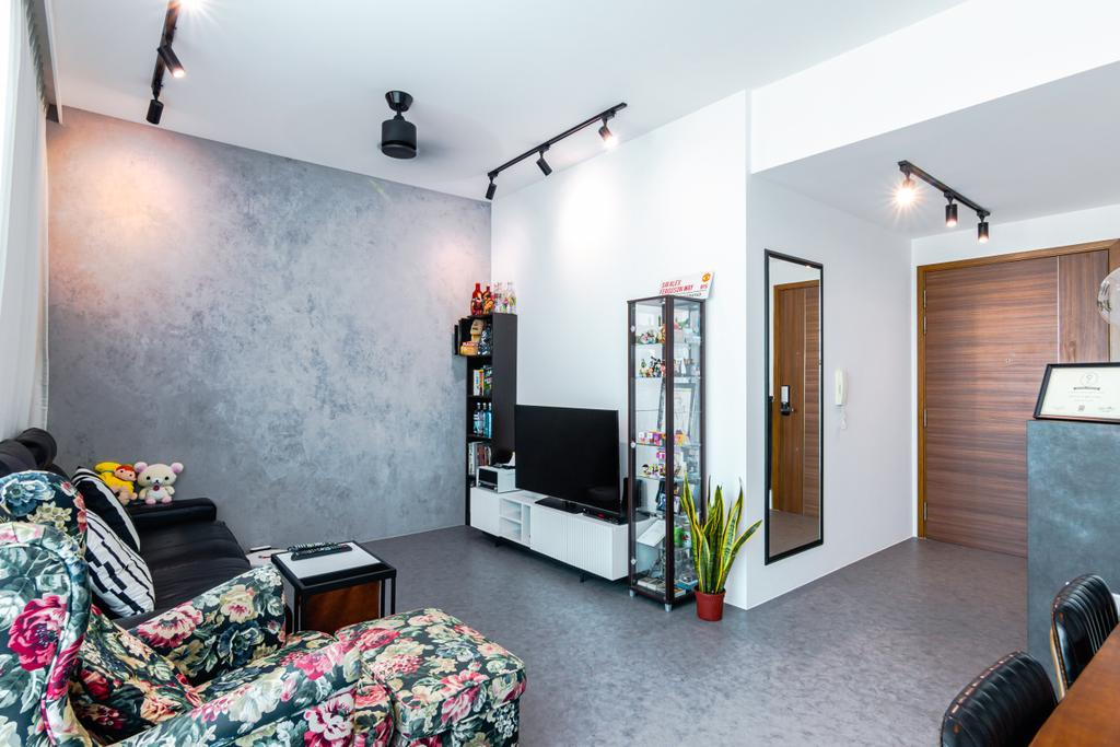 Industrial, Condo, Living Room, The Canopy, Interior Designer, 9 Creation