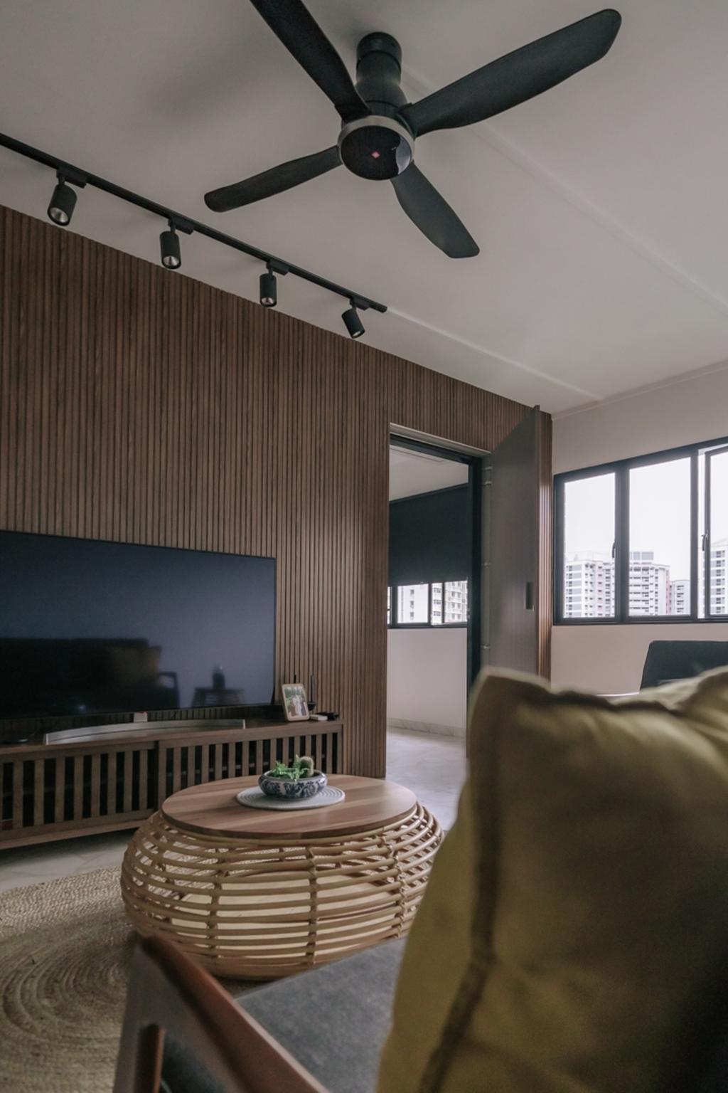 Contemporary, HDB, Living Room, Fajar Road, Interior Designer, Key Concept