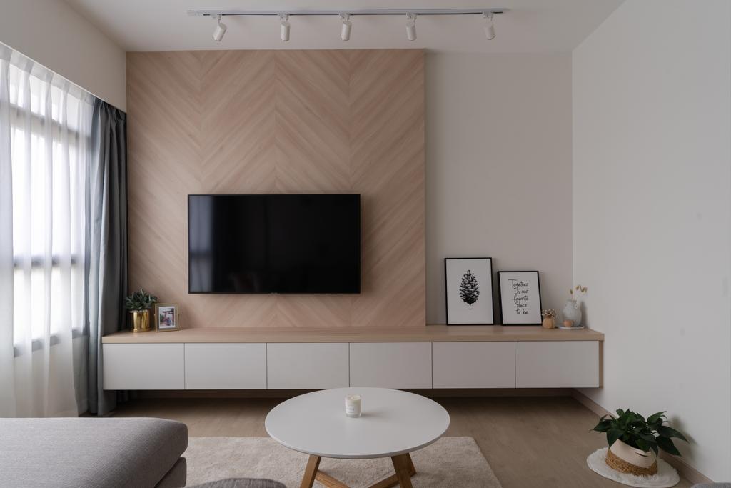 Scandinavian, HDB, Living Room, Canberra Crescent, Interior Designer, Key Concept