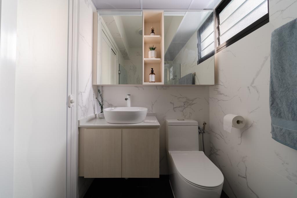 Scandinavian, HDB, Bathroom, Canberra Crescent, Interior Designer, Key Concept