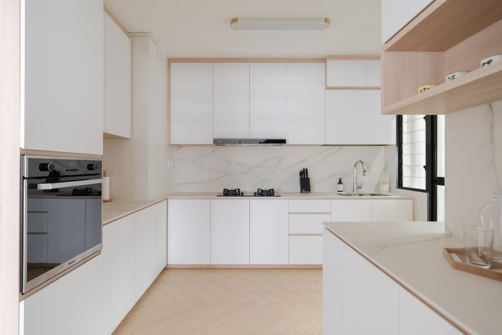 Scandinavian, HDB, Kitchen, Canberra Crescent, Interior Designer, Key Concept
