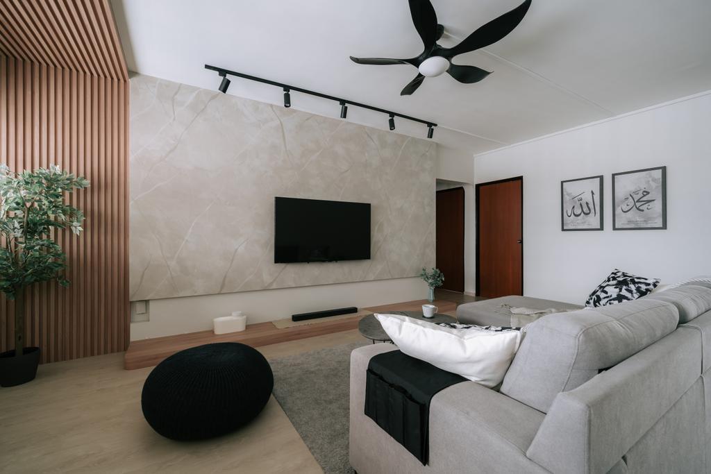 Contemporary, HDB, Living Room, Jurong West Street 42, Interior Designer, Key Concept, Scandinavian