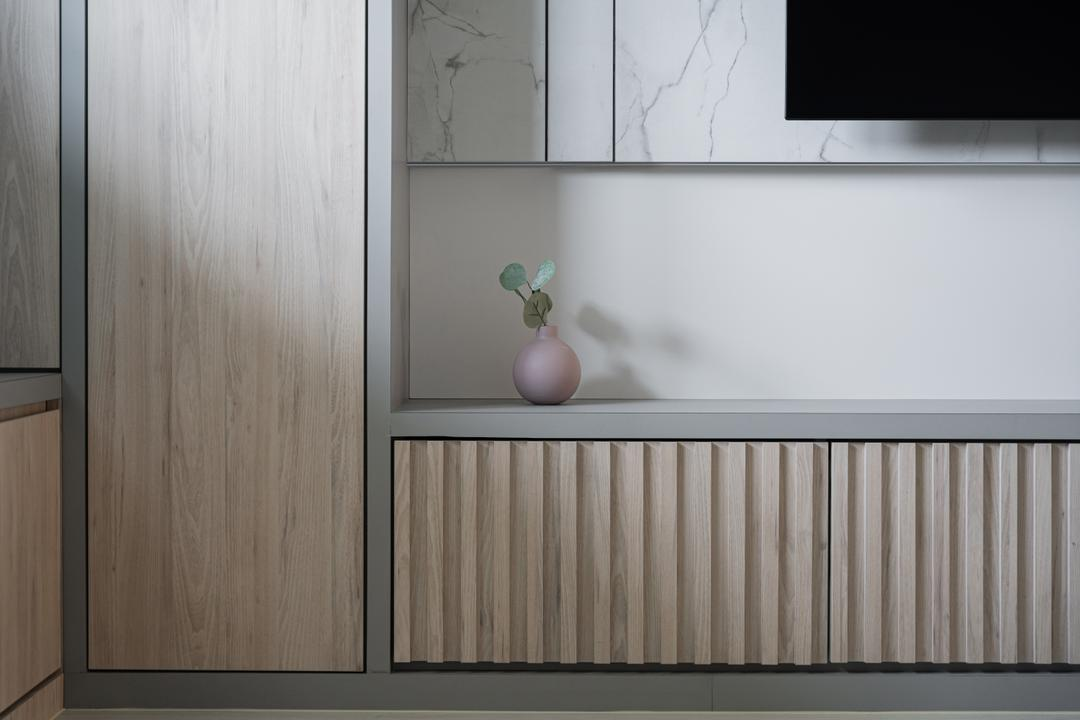 Eunos Crescent, Key Concept, Contemporary, Living Room, HDB, Carpentry