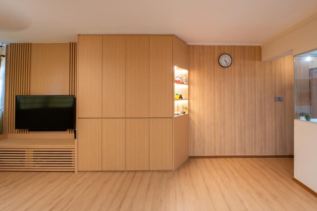 Toa Payoh Lorong 8, Dyel Design, Minimalistic, Living Room, HDB, Muji, Japanese, Zakka