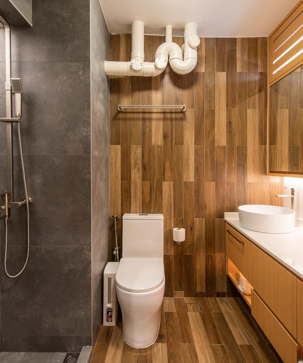 Minimalistic, HDB, Bathroom, Toa Payoh Lorong 8, Interior Designer, Dyel Design