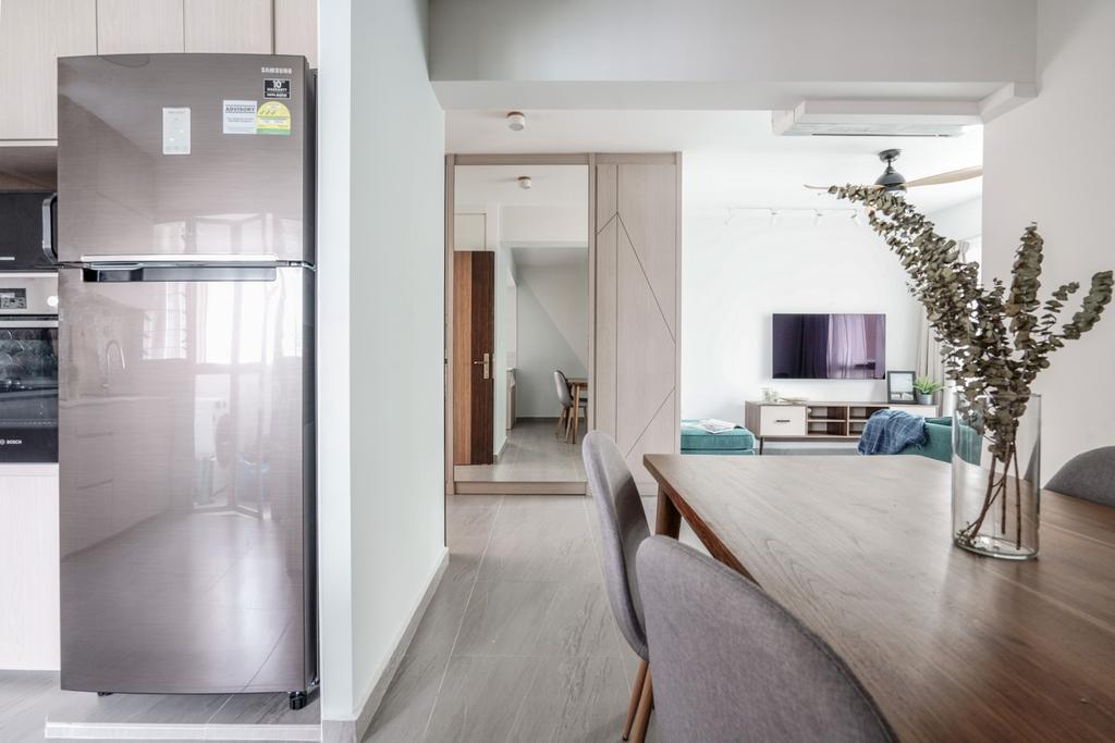 Contemporary, HDB, Dining Room, Bedok North Road, Interior Designer, Couple Abode, Scandinavian