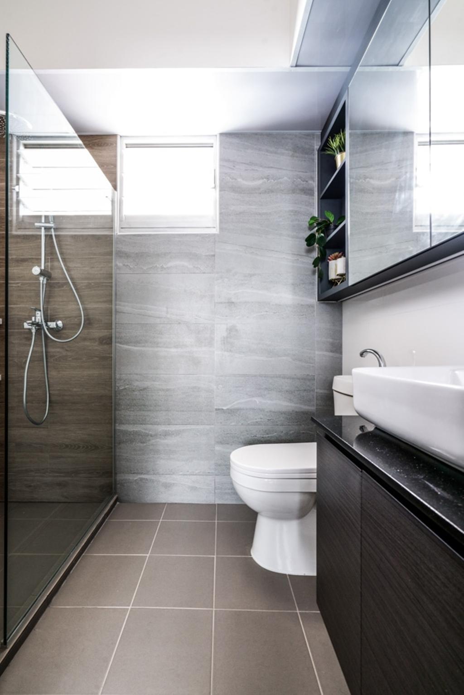 Contemporary, HDB, Bathroom, Bedok North Road, Interior Designer, Couple Abode, Scandinavian