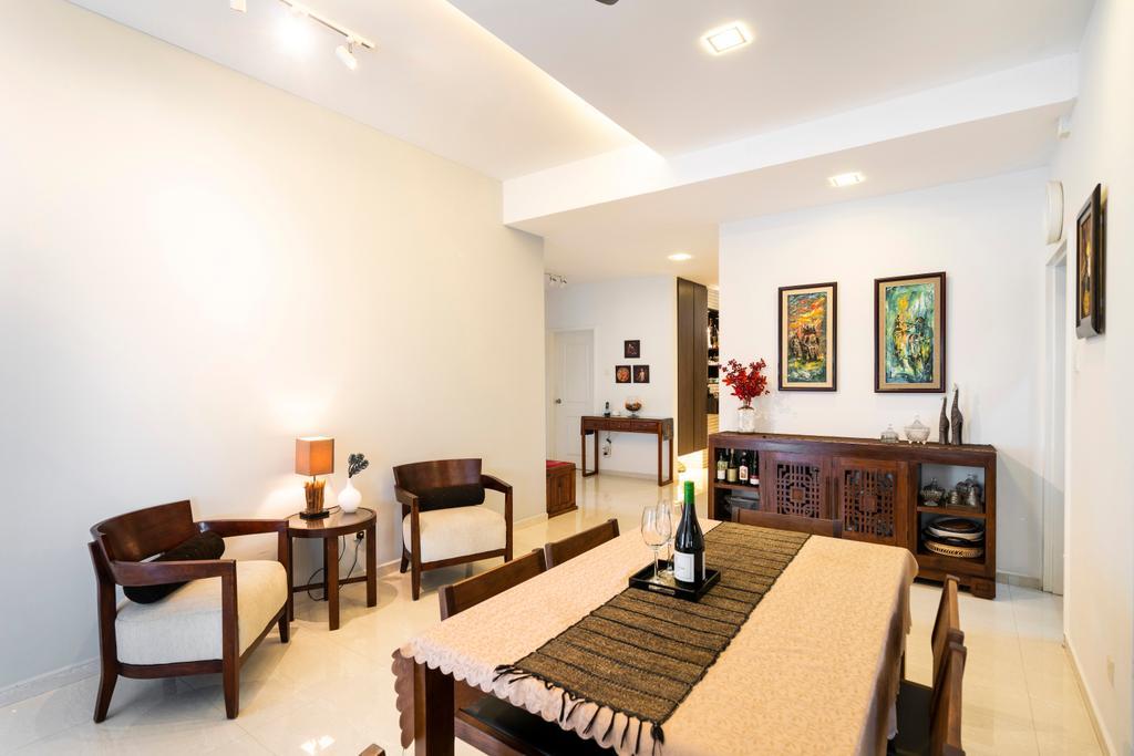 Modern, Condo, Living Room, Mandarin Gardens, Interior Designer, Livspace, Contemporary