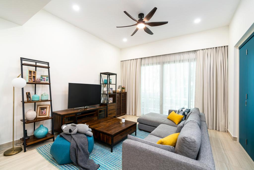 Contemporary, Condo, Living Room, Maplewoods, Interior Designer, Livspace