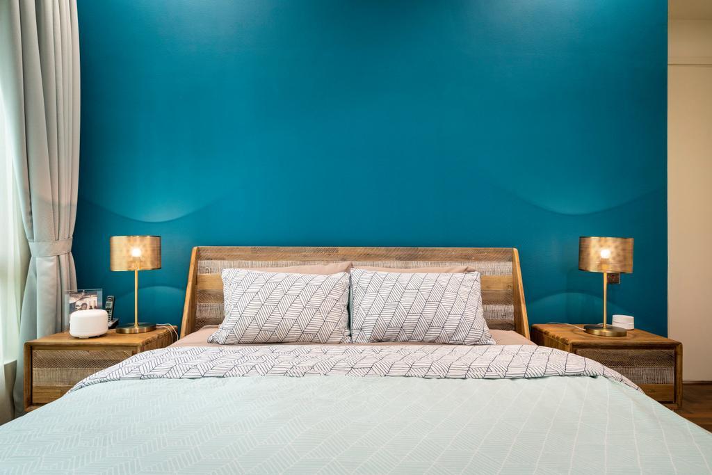 Contemporary, Condo, Bedroom, Maplewoods, Interior Designer, Livspace