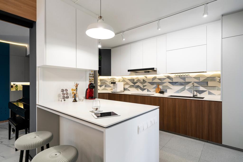Contemporary, HDB, Kitchen, Woodlands Street 41, Interior Designer, Livspace
