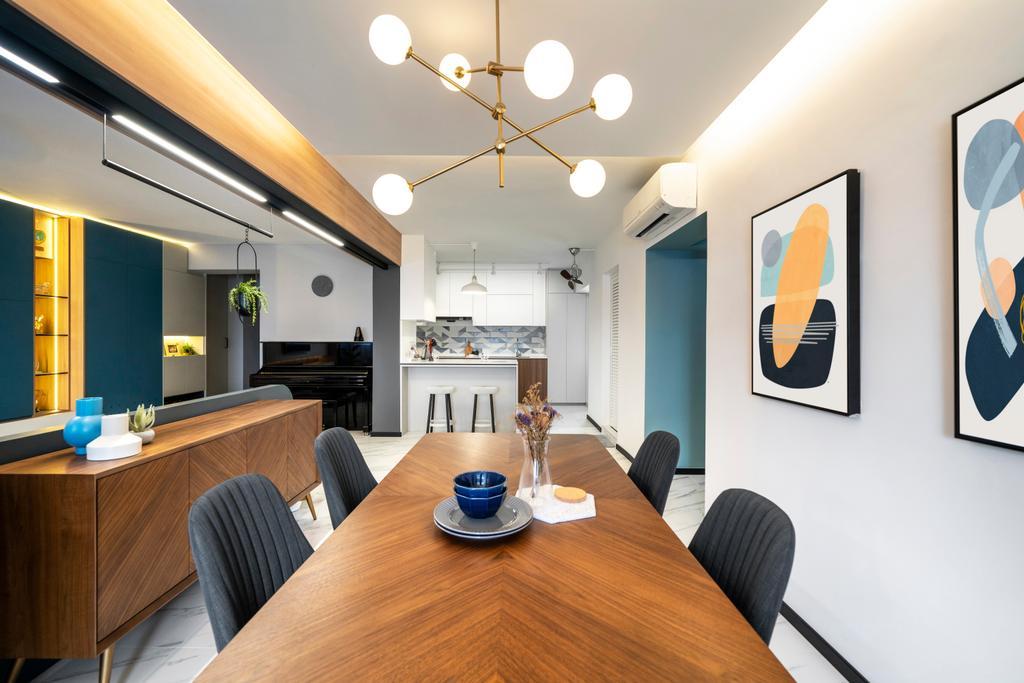 Contemporary, HDB, Dining Room, Woodlands Street 41, Interior Designer, Livspace